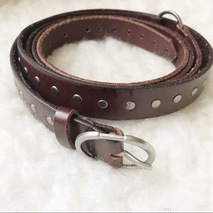 Silpada designs leather brown studded wrap belt OS